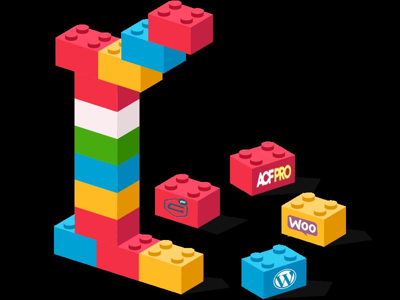 En direkt liknelse med att bygga Lego