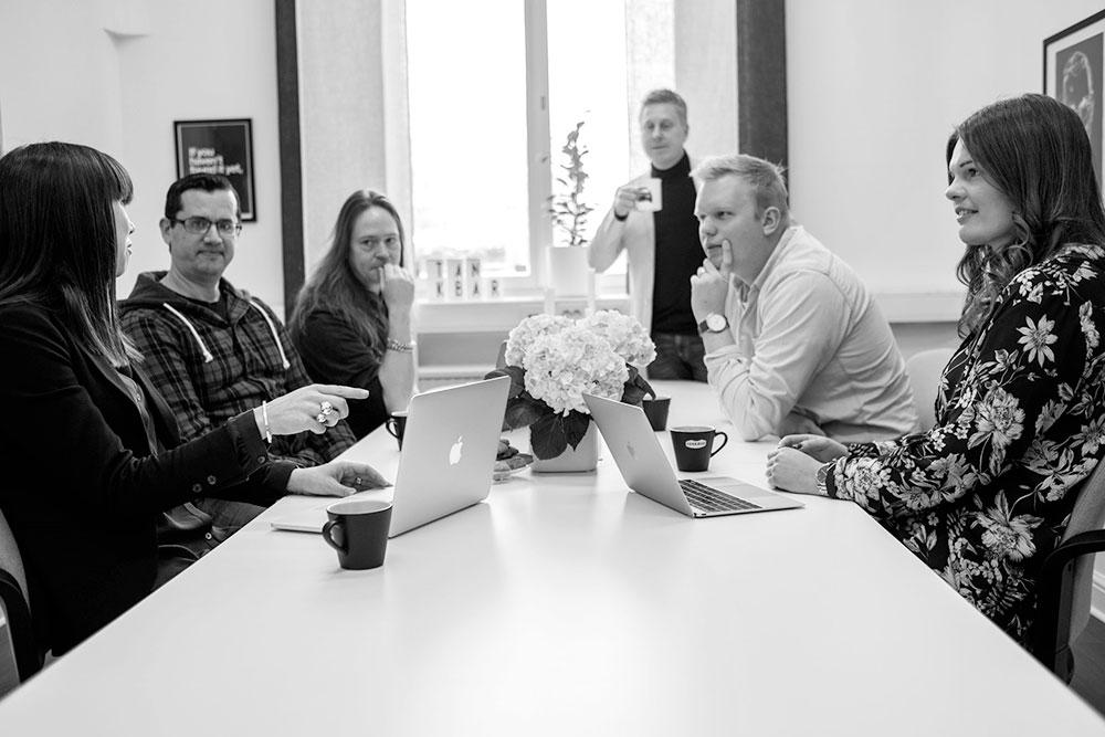 Medarbetarna skapar webbyrån Tankbar