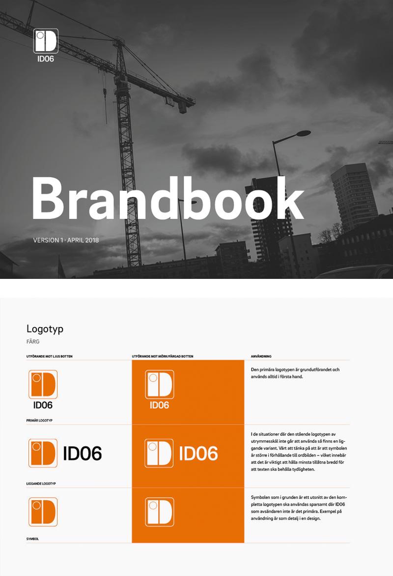 Visar på framsida och innehåll ur Brandbook